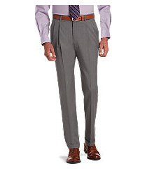 signature collection traditional fit pleated dress pants clearance by jos. a. bank