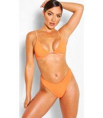 mix & match crinkle high leg bikini brief, orange