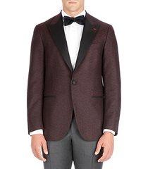 peak lapel wool dinner jacket