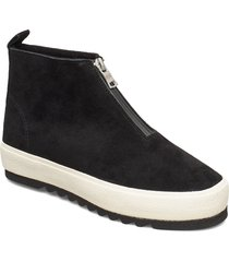 carmel 24a shoes boots ankle boots ankle boots flat heel svart marc o'polo footwear