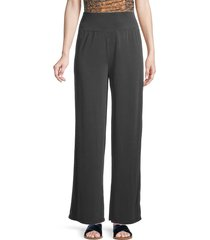 bcbgmaxazria women's jersey wide-leg pants - black - size s