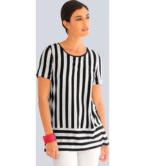 shirt alba moda marine::wit