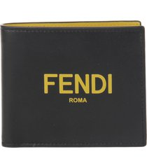 fendi leather wallet with logo