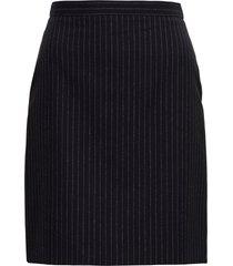 alexander mcqueen lurex pinstriped skirt in wool