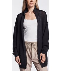 loose stitch wool cashmere cardigan