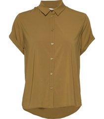 majan ss shirt 9942 blouses short-sleeved grön samsøe & samsøe