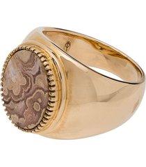 o thongthai 9k gold rhodocrosite ring
