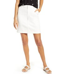 women's gibson x hi sugarplum! positano denim skirt, size x-small - white