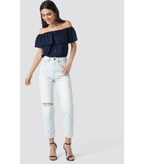 cheap monday donna off blue jeans - blue