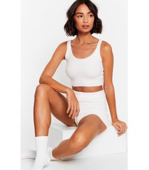 womens knit's worth a try chenille shorts lounge set - cream