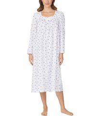 eileen west cotton printed venise lace nightgown