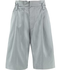 brunello cucinelli high-waist wide-leg shorts