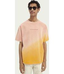 scotch & soda tie-dye t-shirt van biologisch katoen