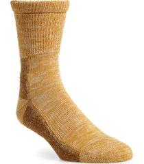 men's beams plus outdoor crew socks, size one size - yellow