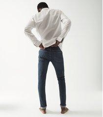 reiss samsun - tapered slim fit jeans in dark blue, mens, size 36r