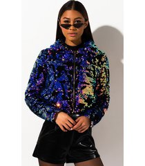 akira losin myself sequin puffer jacket