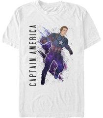 marvel men's avengers galaxy painted captain america short sleeve t-shirt
