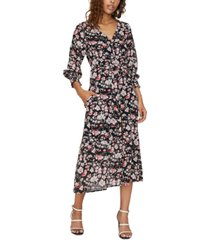 sanctuary fontana floral-print midi dress