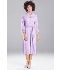 natori luxe shangri-la robe, women's, white, size xl natori