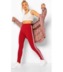 basic jersey leggings met streep, berry