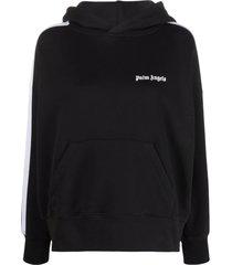 palm angels black cotton hoodie