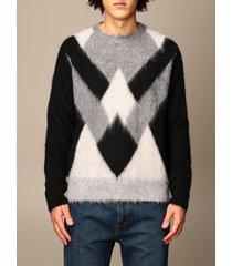 dondup sweater dondup round neck sweater in diamond mohair