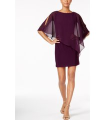 x by xscape capelet sheath dress
