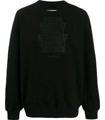 doublet disguise sweatshirt - black