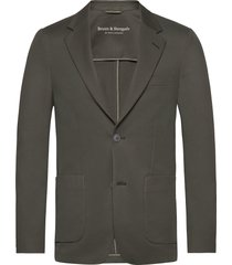 bs molise tailored blazer colbert groen bruun & stengade