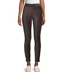 high-waisted corduroy pants