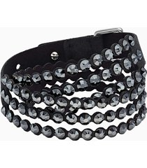 braccialetto swarovski power collection, nero