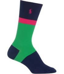 polo ralph lauren women's color block crew socks