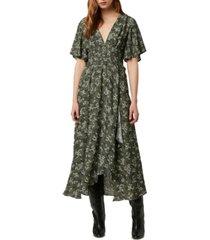 french connection ansa faux-wrap maxi dress