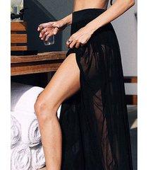 falda de cintura elástica plisada negra diseño