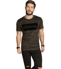 camiseta camuflada surf.com masculina