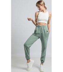 spodnie typu joggers- miętowy(la-053)