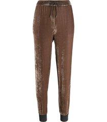 fabiana filippi drawstring velour trousers - neutrals