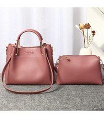 secchio in due pezzi per donna in ecopelle borsa spalla per borsa borsa