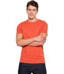 camiseta naranja jack & jones