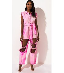 akira cut it out tie dye jumpsuit