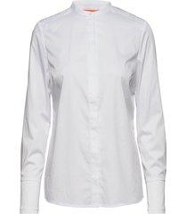 feminine fit shirt w. plisse grosgr overhemd met lange mouwen wit coster copenhagen