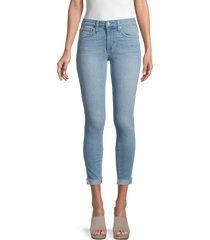 joe's jeans women's mid-rise cropped skinny jeans - blue - size 29 (6-8)