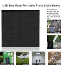 eh 6v 3w monocristalino del panel solar del usb del silicio para el dispositivo digital del teléfono móvil - azul negro
