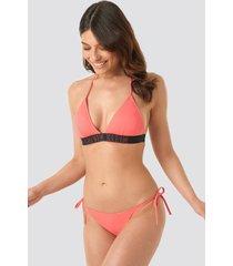 calvin klein cheeky string side tie bikini - pink