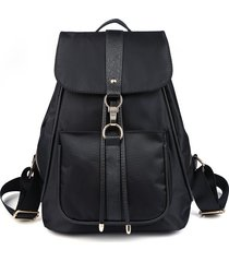 mochila casual mujeres- mochila bandolera de la-negro