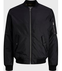 chaqueta jack & jones jjbill bomber jacket negro - calce regular