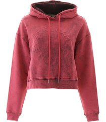 stella mccartney embossed logo crop hoodie