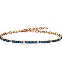 14k strawberry gold®, blueberry sapphires™ & white sapphire link bracelet
