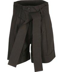 parosh high-waist tie shorts