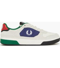 fred perry b7209 suede sneakers white